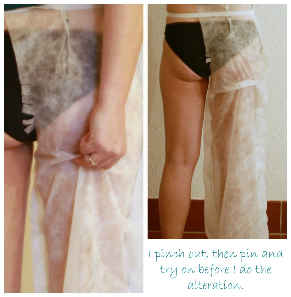 Trousers Fit-n-Sew-along #4: More tissue fitting issues