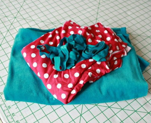 Bright fabric for the sewing dare
