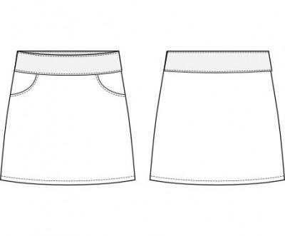 Skirt sewing pattern Yasmin Yoke Skirt