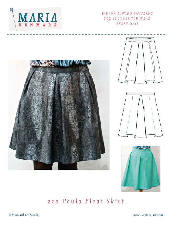202 - Paula Pleat Skirt pattern - MariaDenmark Sewing
