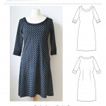 MariaDenmark Audrey Knit dress pdf sewing pattern