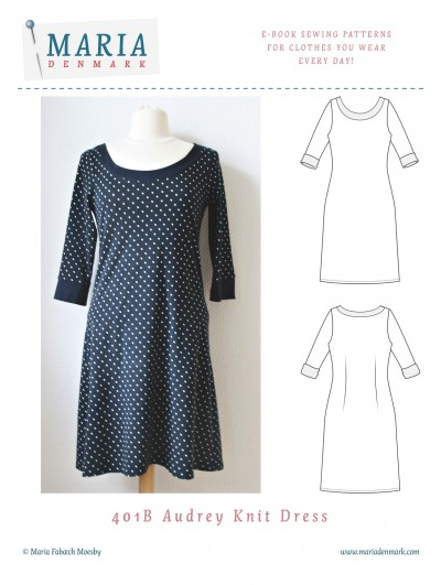 MariaDenmark Audrey Knit dress pdf sewing pattern
