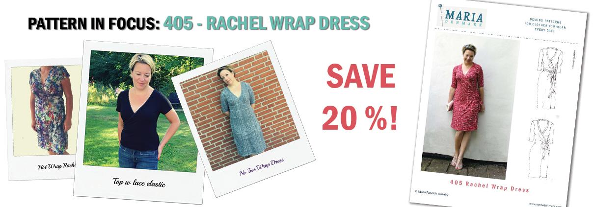 Pattern in Focus: 405 Rachel Wrap Dress