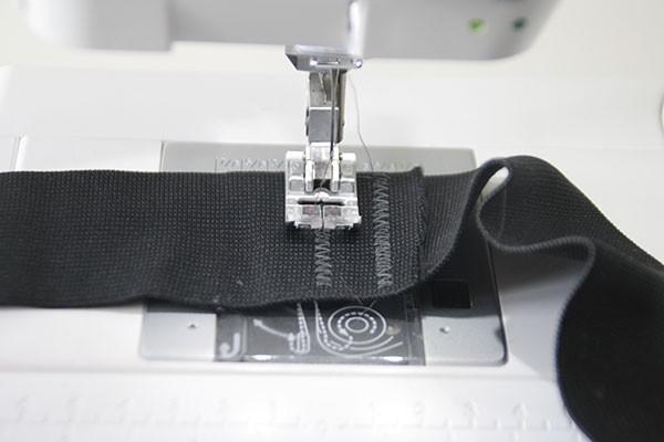 Overlap elastic sewing skirt DIY