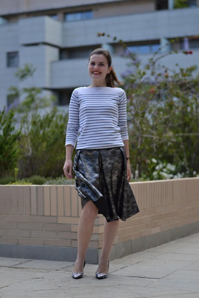 Sewing with Leather: The mariaDenmark Paula Skirt