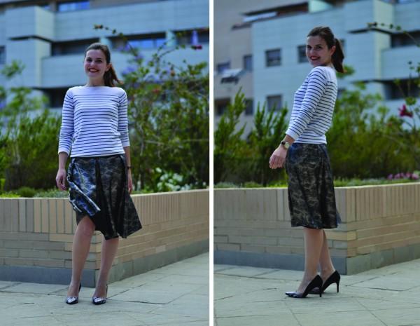Sewing Leather MariaDenmark Paula Pleat Skirt