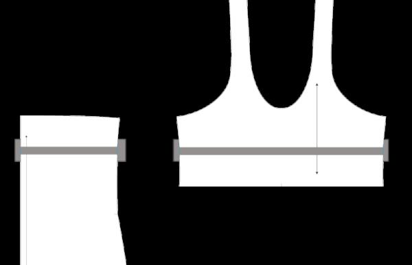 Lengthening the bodice