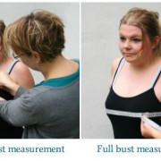 Full bust adjustment: measuring high and full bust