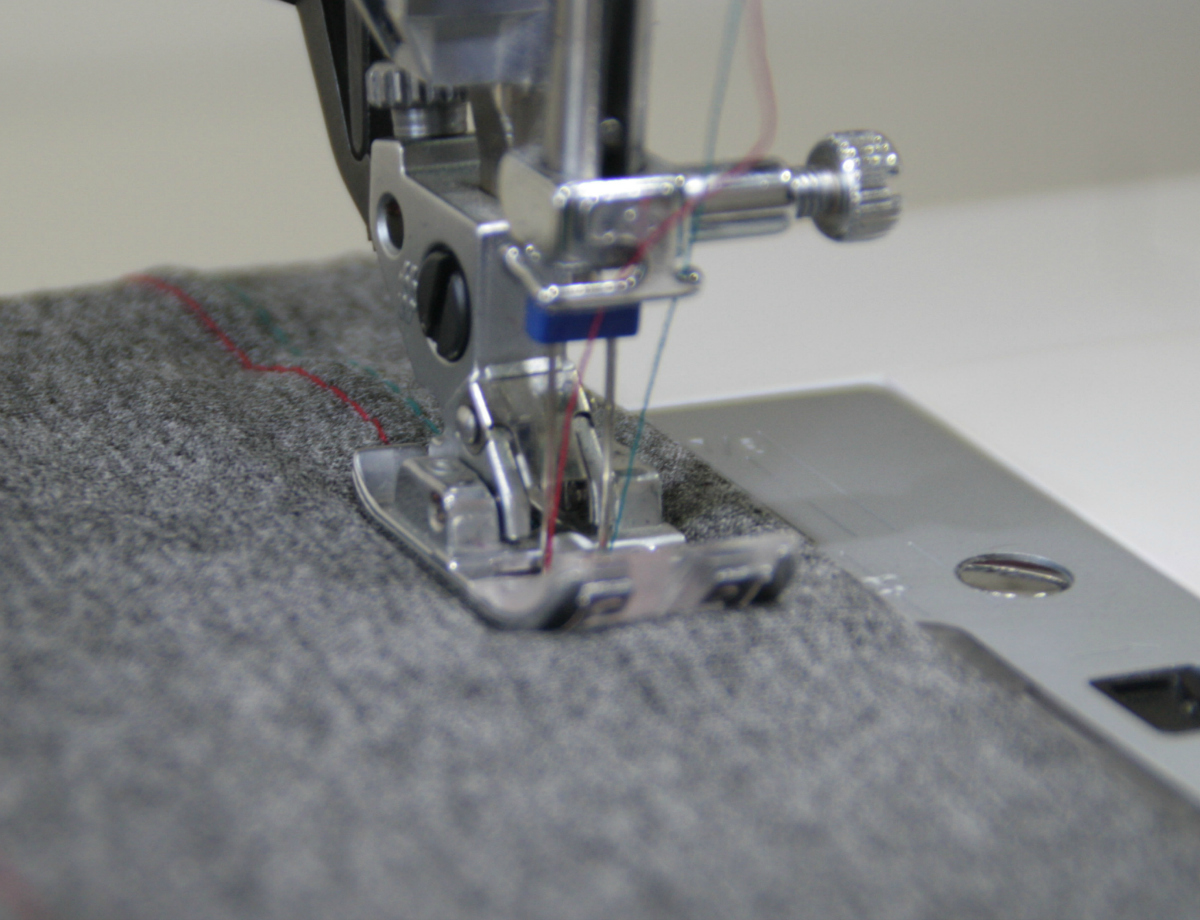 How to sew a twin needle hem that works AND looks great!