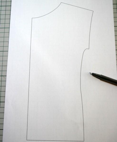 Kirsten kimono tee pattern piece - lengthening the sleeves at mariaDenmark.com