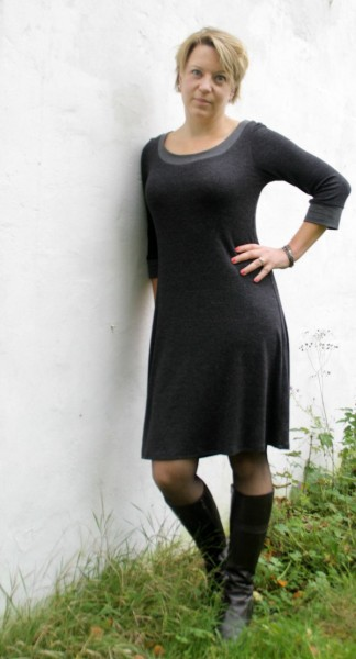 My new audrey knit dress pattern