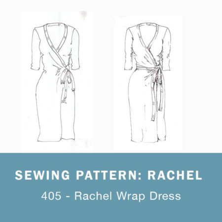 Rachel wrap dress sewing pattern