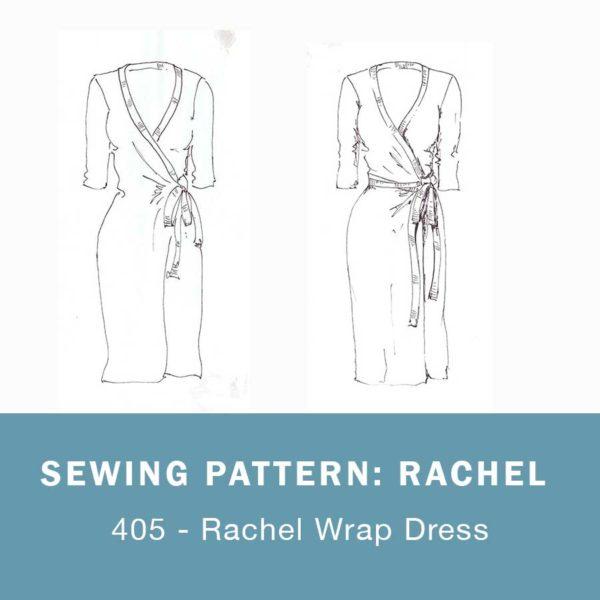 Rachel wrap dress sewing pattern