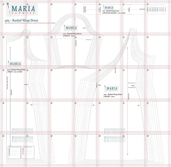 MariaDenmark 405 - Rachel Wrap Dress Sewing Pattern