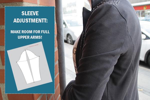 sleeve adjustment full upper arm