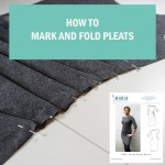 How to mark fold sew pleats