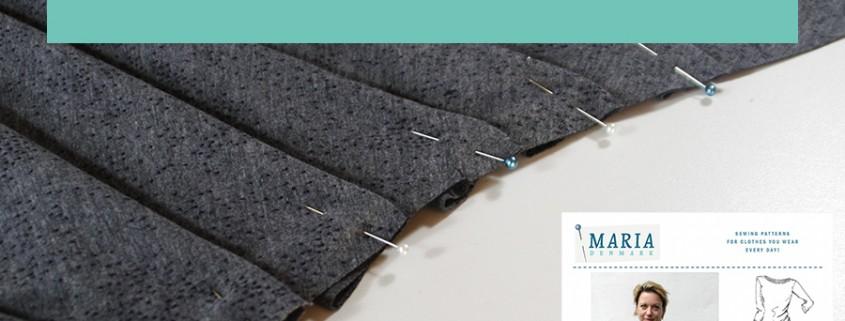How to mark fold sew pleats