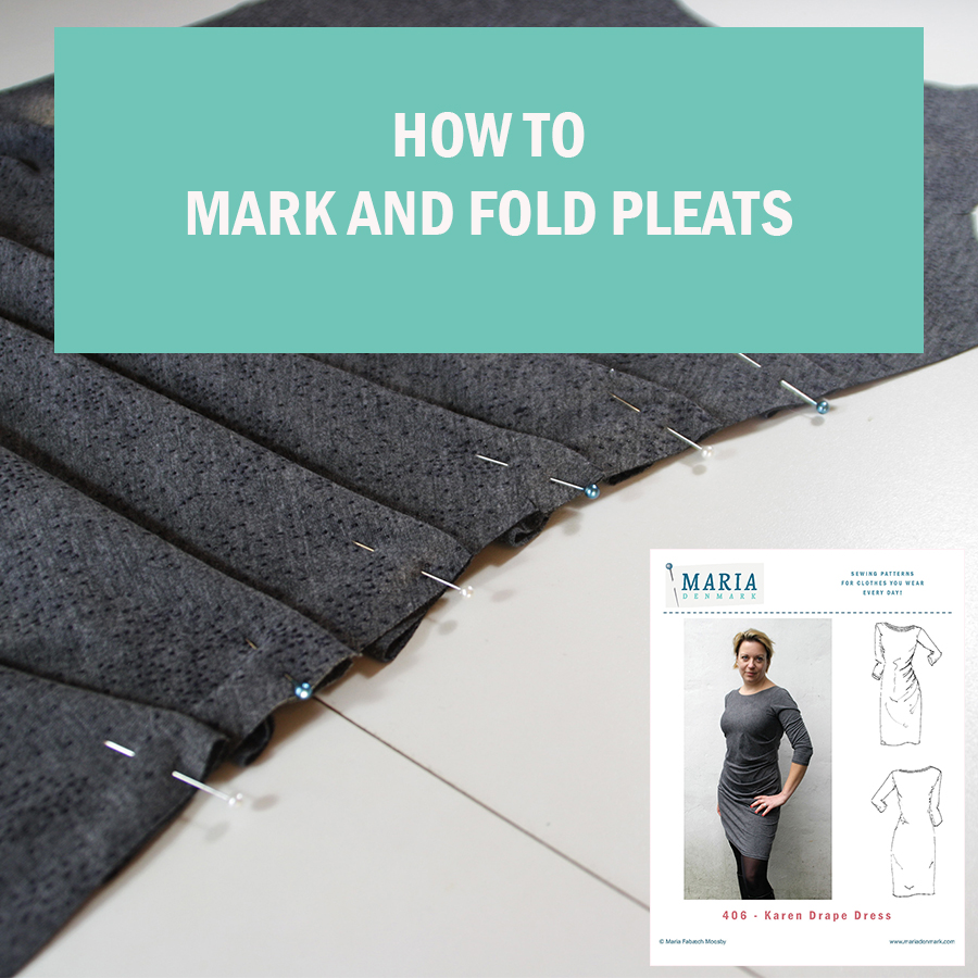 Karen Drape Dress: How to mark and fold the pleats.
