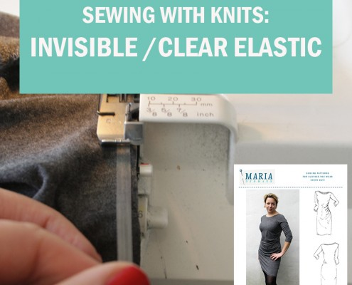 invisible clear elastic neckline