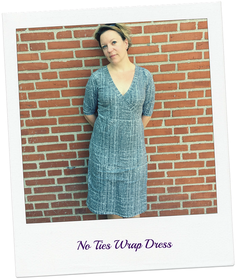 Rachel Pattern Hack: Faux Wrap Dress or top