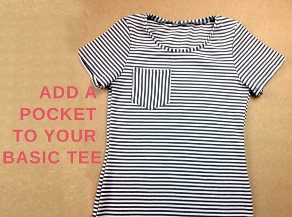 Basic t-shirt with a fun twist!