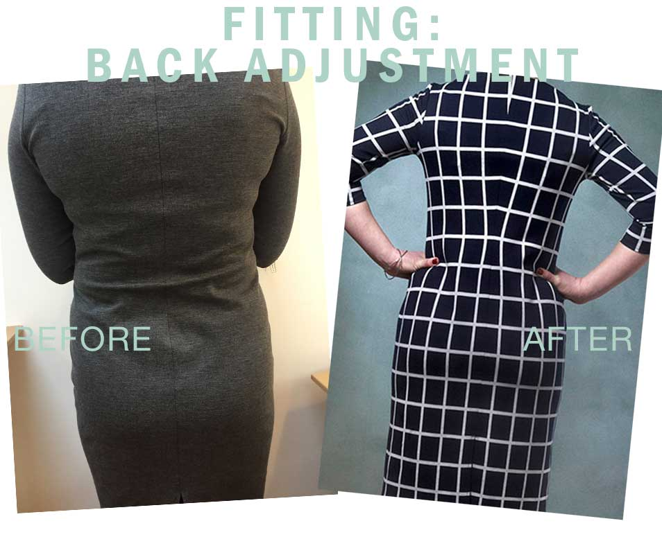 Swayback alteration: Get rid of the folds on the back